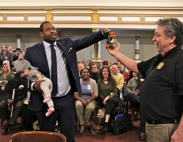 Kahlil Williams, one of 13 Democratic candidates for Philadelphia City Commissioner, draws the 7th position on the crowded ballot. (Emma Lee/WHYY)