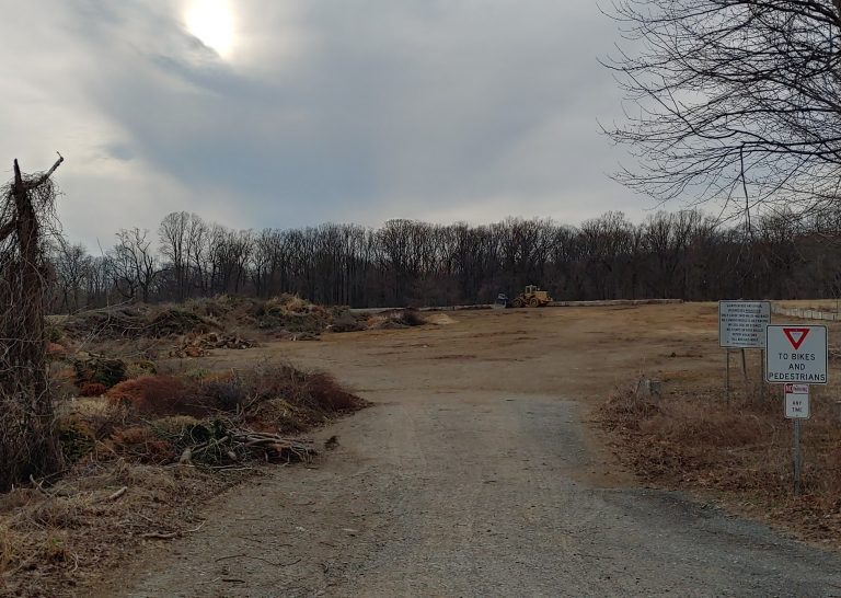 The Polly Drummond yard waste site in Newark will close in June to return to its natural state. (Zöe Read/WHYY)