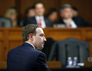 Facebook CEO Mark Zuckerberg testifies before a joint hearing of the Commerce and Judiciary Committees on Capitol Hill in Washington, Tuesday, April 10, 2018, about the use of Facebook data to target American voters in the 2016 election. (Alex Brandon/AP Photo)