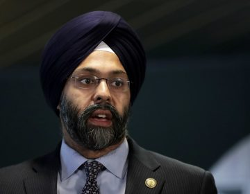 New Jersey attorney general Gurbir Grewal speaks during a news conference