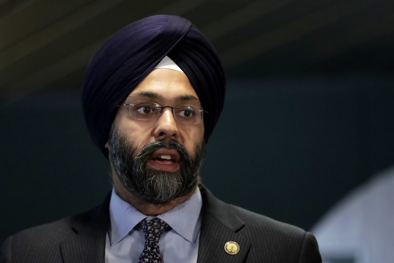 New Jersey attorney general Gurbir Grewal speaks during a news conference on Nov. 16, 2018. (Julio Cortez/AP Photo)