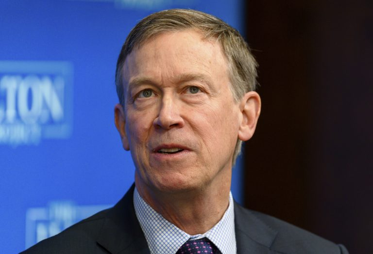John Hickenlooper, Former Governor, The State of Colorado, speaking at a forum on