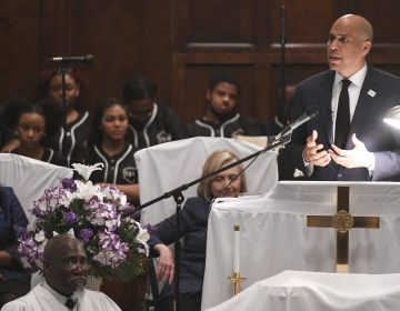 U.S. Sen. Cory Booker, D-N.J., speaks during a commemorative service Sunday, March 3, 2019, at Brown Chapel AME Church in Selma, Ala. Several Democratic White House hopefuls are visiting one of America's seminal civil rights sites to pay homage to that legacy and highlight their own connections to the movement. (Julie Bennett/AP Photo)