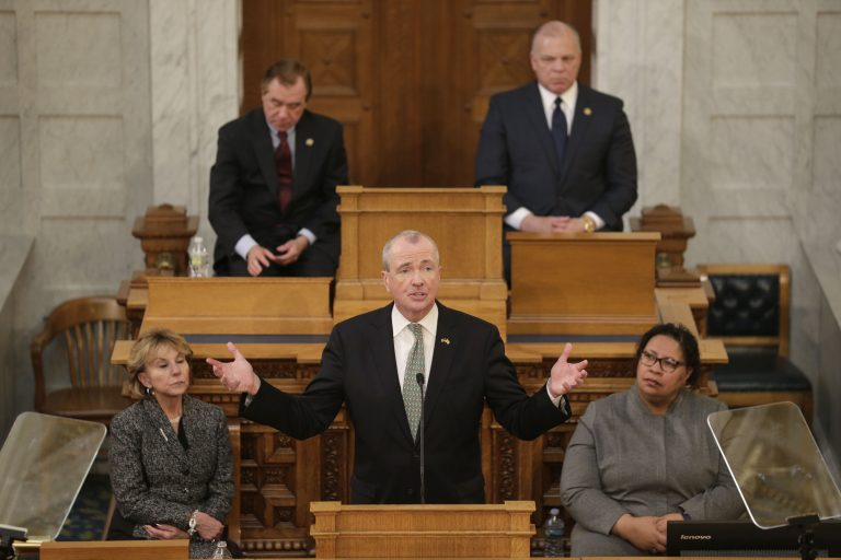 New Jersey Gov. Phil Murphy speaks to a joint meeting of the Democratic-led Assembly and Senate in Trenton, N.J., Tuesday, March 5, 2019. Murphy unveiled his second budget Tuesday, calling for about $1 billion in increased spending that would be financed by higher income tax rates on wealthy residents and savings in public worker benefits. (Seth Wenig/AP Photo)