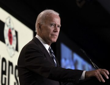 Former Vice President Joe Biden speaks at the International Association of Fire Fighters (IAFF) Legislative Conference on March 12, 2019 in Washington, D.C. (Olivier Douliery/Abaca/Sipa USA(Sipa via AP Images)