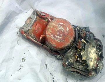This photo provided by by the French air accident investigation authority BEA on Thursday, March 14, 2019, shows one of the black box flight recorder from the crashed Ethiopian Airlines jet, in le Bourget, north of Paris. (BEA via AP)