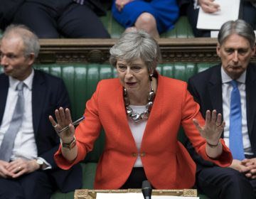 In this Tuesday March 12, 2019 file photo Britain's Prime Minister Theresa May speaks to lawmakers in parliament, London. Britain's love-hate relationship with the rest of Europe goes back decades, but the Brexit crisis gripping it today stems from dramatic January 2013 speech by Prime Minister David Cameron in which he promised an