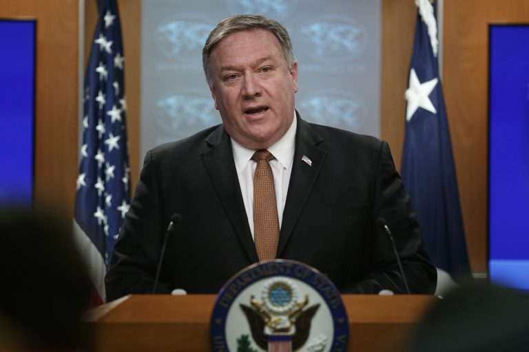 Secretary of State Mike Pompeo speaks during a news conference at the State Department, Friday, March 15, 2019 in Washington. (Carolyn Kaster/AP Photo)