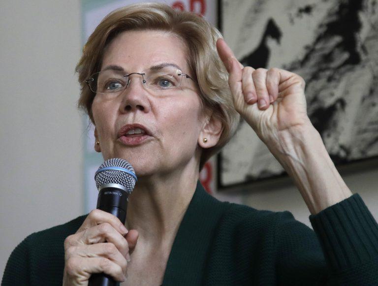Democratic presidential candidate Sen. Elizabeth Warren, D-Mass., speaks at a campaign house party, Friday, March 15, 2019, in Salem, N.H. (Elise Amendola/AP Photo)