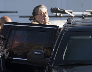 Attorney General William Barr leaves his home in McLean, Va., on Saturday morning, March 23, 2019.  (Sait Serkan Gurbuz/AP Photo)