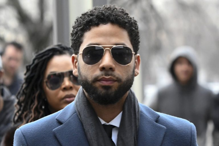 In this March 14, 2019 file photo, Empire actor Jussie Smollett arrives at the Leighton Criminal Court Building for his hearing in Chicago. Smollett is accused of lying to police about being the victim of a racist and homophobic attack by two men on Jan. 29 in downtown Chicago. (Matt Marton/AP Photo, File)