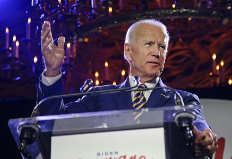 Former Vice President Joe Biden speaks at the Biden Courage Awards Tuesday, March 26, 2019, in New York. (Frank Franklin II/AP Photo)