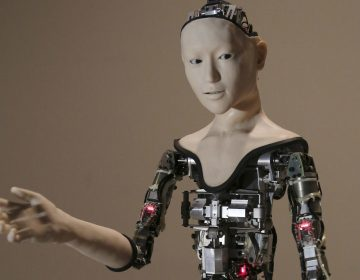 This Monday, Aug. 1, 2016 file photo shows the humanoid robot