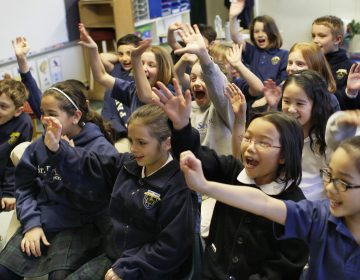 Students in the 3rd grade at St. Paul School in Princeton, N.J. are pictured in this file photo  (Tom Mihalek/AP Images for Skype)