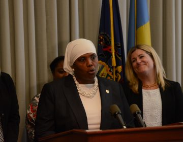 Movita Johnson-Harrell, shown here while she was the supervisor of the Philadelphia district attorney's Victim/Witness Services unit. An invocation given before Johnson-Harrell's swearing-in to the state House was broadly construed as Islamophobic. (Tom MacDonald/WHYY)