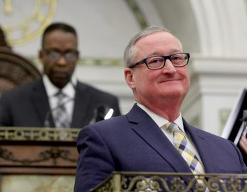Mayor Jim Kenney presents his budget to City Council. (Emma Lee/WHYY)