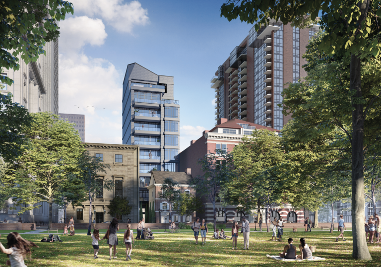 Renderings of the Dilworth House tower project from Cope Linder Architects and developer John Turchi (Provided)