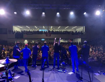 About 2,000 people attended the Snow Jam concert headlined by O.A.R. in the debut concert at the 76ers Fieldhouse in Wilmington last month. (Courtesy of BPG Sports)