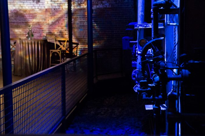 The Boiler Room in the Globe Dye Works building. (Kimberly Paynter/WHYY)