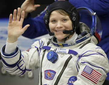 While she was working last week, U.S. astronaut Anne McClain realized that she needed a medium-size suit for spacewalking. (Dmitri Lovetsky/AP)