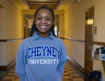 Sharell Reddin was the president of the Student Government Association when Cheyney University celebrated its 180th anniversary in 2017 under a cloud of uncertainty. (Emily Cohen for WHYY)