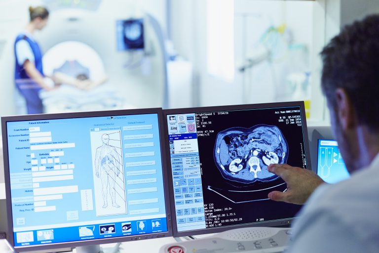 Contrast agent, a drug that enhances CT scans, is sometimes skipped because of concerns about side effects. (Morsa Images/Getty Images)