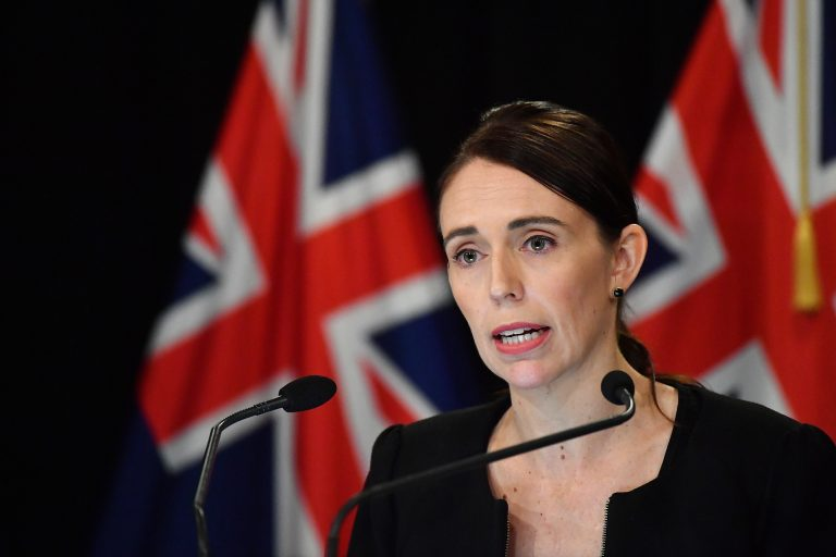 New Zealand Prime Minister Jacinda Ardern addresses the media on March 16 in Wellington, New Zealand. Ardern said she would seek a change in her country's gun laws after after at least one man opened fire during afternoon prayers Friday and killed at least 49 people at two mosques in Christchurch. (Mark Tantrum/Getty Image)
