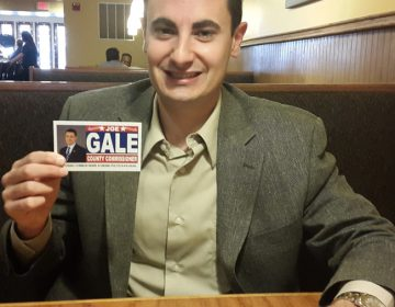 In this file photo, Montgomery County Republican Joe Gale pictured here during his candidacy for commissioner  (Laura Benshoff/WHYY)