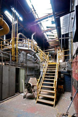 The boiler room at Globe Dye Works, 2008. (Courtesy of Globe Dye Works)