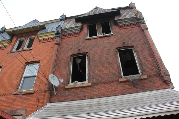 The deadly fire that engulfed 1855 N. 21st St. began on the second floor. (Emma Lee/WHYY)