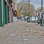 Litter blows on Germantown Avenue. (Kimberly Paynter/WHYY)