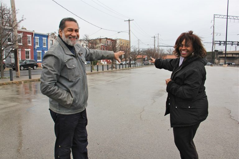 The Rev. Clarence Hester and CDC President Tinamarie Russell hope to use the development at North Broad and Indiana Avenue to spark an economic revival for the neighborhood. (Emma Lee/WHYY)