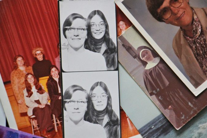 A strip of photo booth pictures show Sister Eileen and Patricia Cahill during a trip to Canada in 1973. (Courtesy of Patricia Cahill)