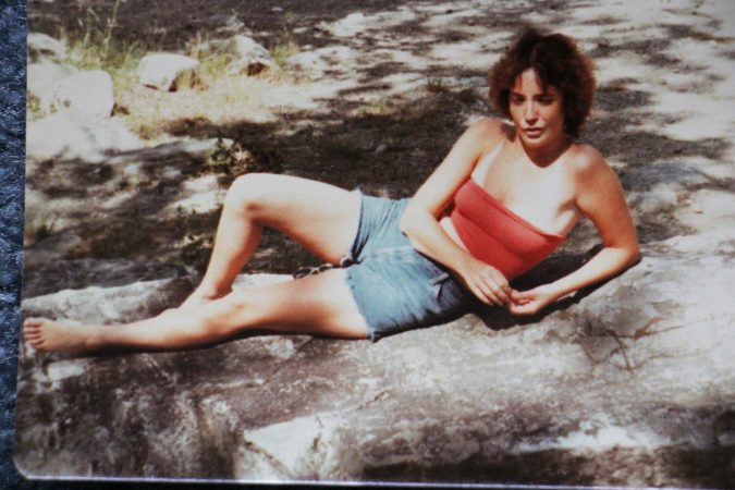 Patricia Cahill poses for a photo during a camping trip with Sister Eileen. (Courtesy of Patricia Cahill)