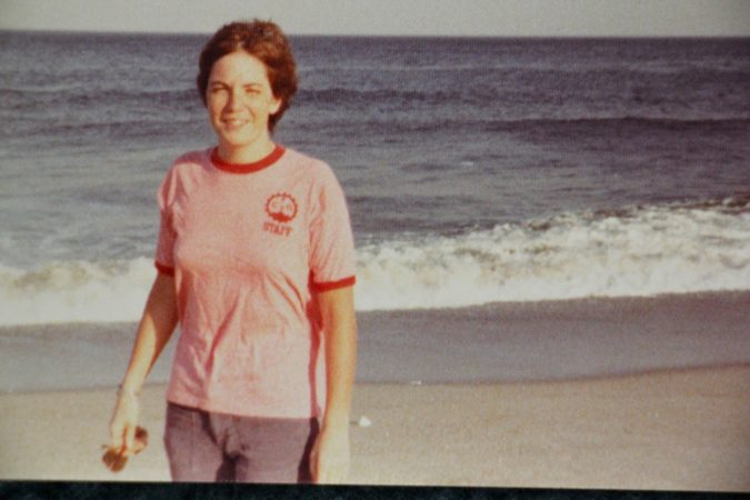 Patricia Cahill poses for a photo during a visit to Sister Eileen's beach house in Seaside Park, N.J. (Courtesy of Patricia Cahill)