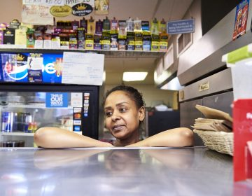 Hadeill Yousif, co-owner of South Style Pizza and Deli in Cobbs Creek, Philadelphia, P.A. (Natalie Piserchio for WHYY)