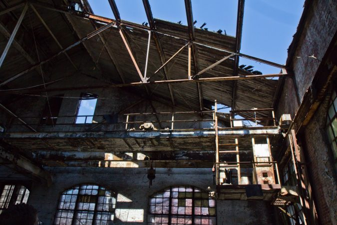 Princetel, a fiberoptic rotary joint manufacturer, wants to move into the former Roebling factory's building 62, in Trenton, N.J. If approved, renovations are expected to take 18 months.(Kimberly Paynter/WHYY)