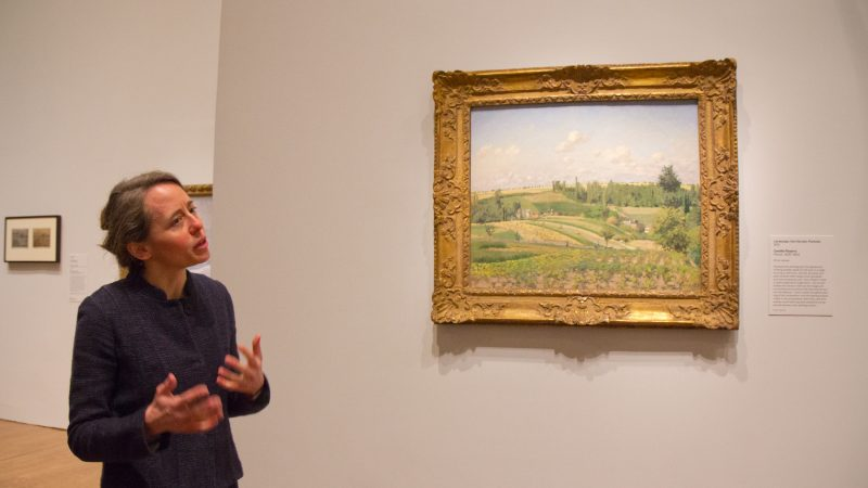 "Jennifer Thompson, head of Department of European Paintings at the Philadelphia Museum of Art, talks about impressionism at the ""The Impressionist's Eye"