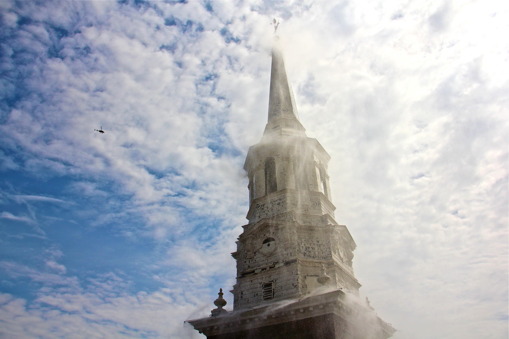 Philadelphia's historic Christ Church tests its fire sprinkler system ahead of renovations