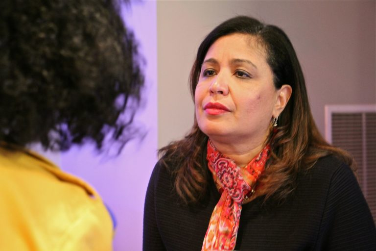 Philadelphia City Council candidate Maria Quiñones-Sánchez. (Emma Lee/WHYY)