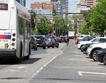 Traffic on 11th Street between Washington and Bainbridge streets. (Emma Lee/WHYY)