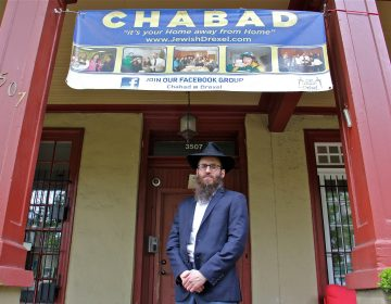 Rabbi Chaim Goldstein is the director of the Chabad House at Drexel University. His uncle, Rabbi Yisroel Goldstein, was injured in the shooting at Chabad of Poway synagogue in Southern California. (Emma Lee/WHYY)