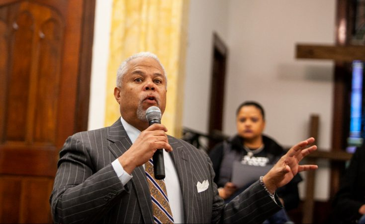 Democratic mayoral candidate Anthony Hardy Williams. (Brad Larrison for WHYY)