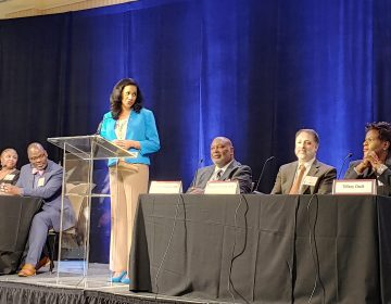 Dr. Kara Odom Walker moderated the 14th annual Delaware Healthy Mother and Infant Consortium summit (Zoë Read/ WHYY)
