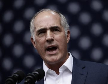 Sen. Bob Casey D-Pa., speaks at a campaign rally for Pennsylvania candidates in Philadelphia, Friday, Sept. 21, 2018. (Matt Rourke/AP Photo)
