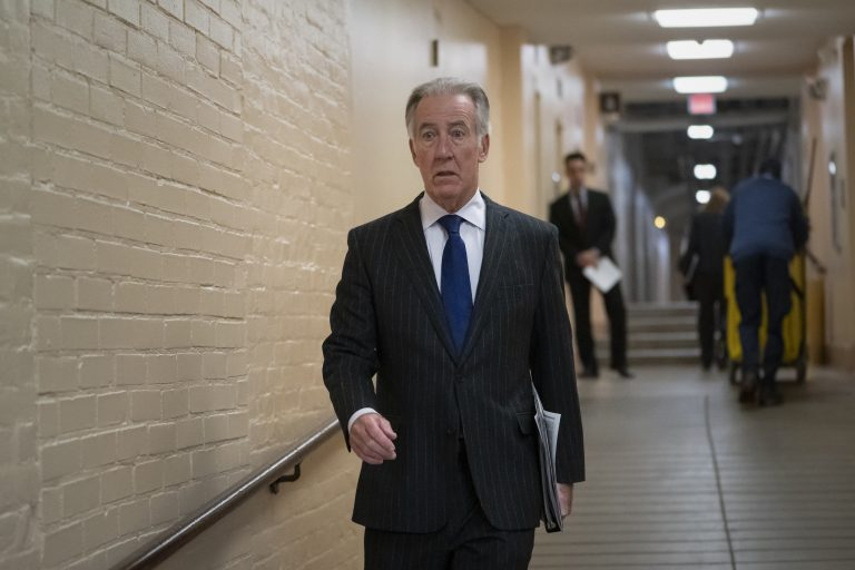 House Ways and Means Committee Chairman Richard Neal, D-Mass., arrives for a Democratic Caucus meeting at the Capitol in Washington, on April 2, 2019. Rep. Neal, whose committee has jurisdiction over all tax issues, has formally requested President Donald Trump's tax returns from the Internal Revenue Service for the past 6 years. (J. Scott Applewhite/AP Photo)