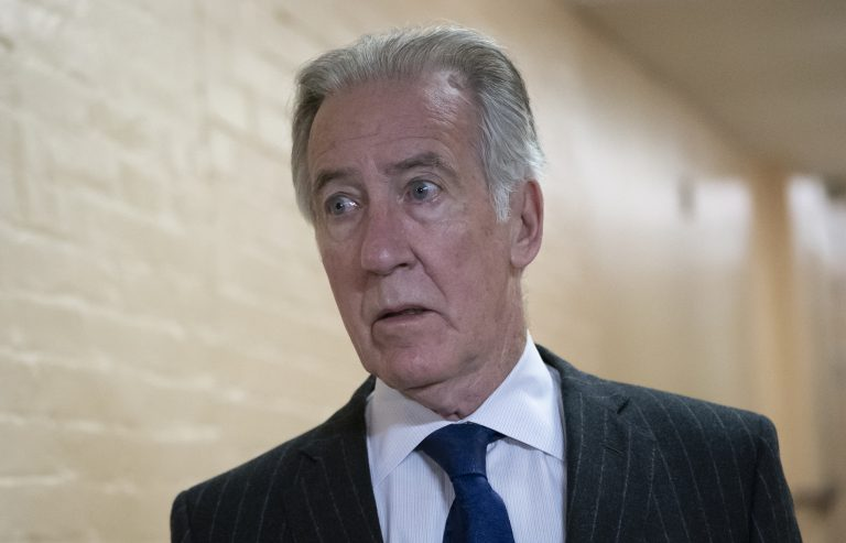 House Ways and Means Committee Chairman Richard Neal, D-Mass., arrives for a Democratic Caucus meeting at the Capitol in Washington. Neal, whose committee has jurisdiction over all tax issues, has formally requested President Donald Trump's tax returns from the Internal Revenue Service. (J. Scott Applewhite/AP Photo)