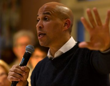 New Jersey Senator and Democratic presidential candidate Cory Booker is pictured in this file photo in Amherst, NH on Saturday April 6, 2019. (Nikolas Hample/Sipa USA)(Sipa via AP Images)