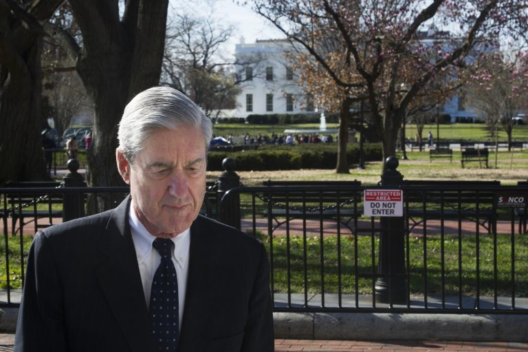 In this March 24, 2019, file photo, Special Counsel Robert Mueller walks past the White House after attending services at St. John's Episcopal Church, in Washington. (Cliff Owen/AP Photo, File)