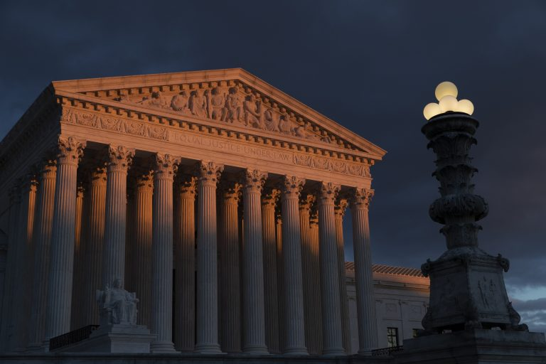 In this Jan. 24, 2019, file photo, the Supreme Court is seen at sunset in Washington. Vast changes in America and technology have dramatically altered how the census is conducted. But the accuracy of the once-a-decade population count is at the heart of the Supreme Court case over the Trump administration's effort to add a citizenship question to the 2020 census. The justices hear arguments in the case Tuesday, April 23. (J. Scott Applewhite/AP Photo)